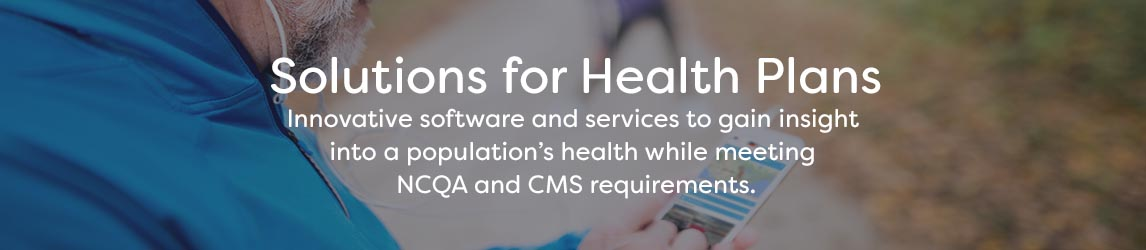 Solutions for Health Plans Banner