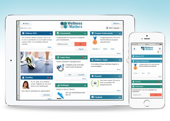 The ConXus Wellness Portal view on any device