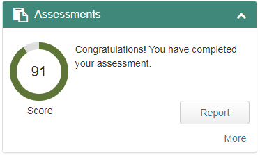 Assessments Widget