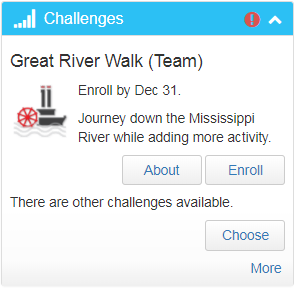 Great River Walk Challenge Widget