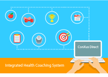 ConXus Direct Health Coaching System Diagram