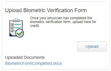 verification form widget screenshot