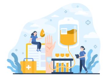 Illustration of Plasma Donation Concept